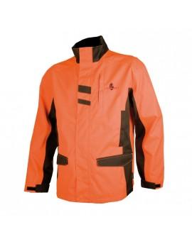 Veste anti-ronce orange fluo imperméable, 600D oxford PVC, taille enfant