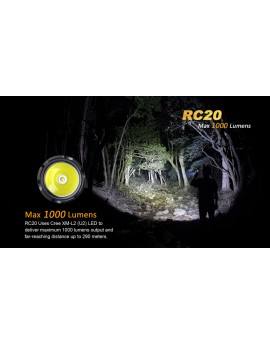 Lampe fenix RC20 1000Lumens avec socle de recharge