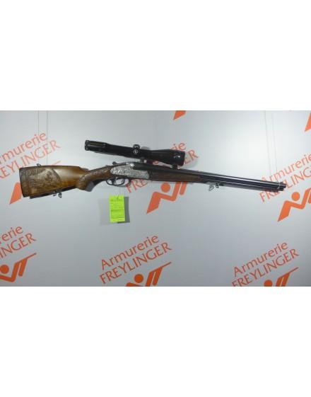 Carabine Heym Drilling 8x57jrs-16/70 plus tube reducteur avec lunette 2.5-10x52
